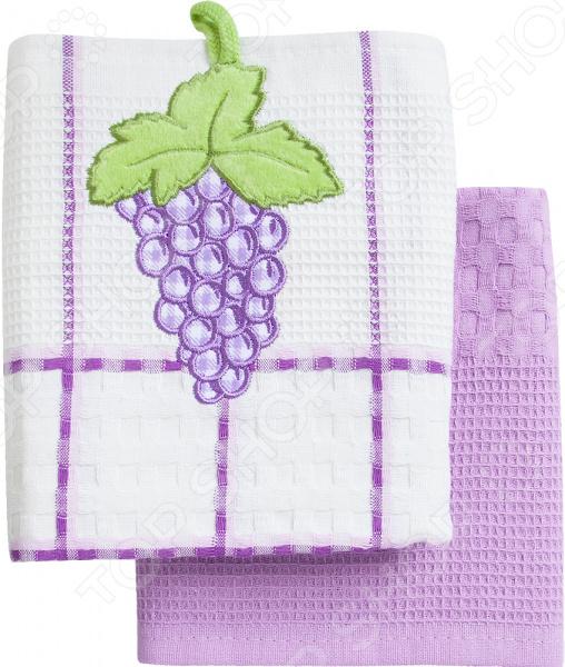 Комплект из 2-х кухонных полотенец BONITA «Виноград» ткань для полотенец оптом в москве