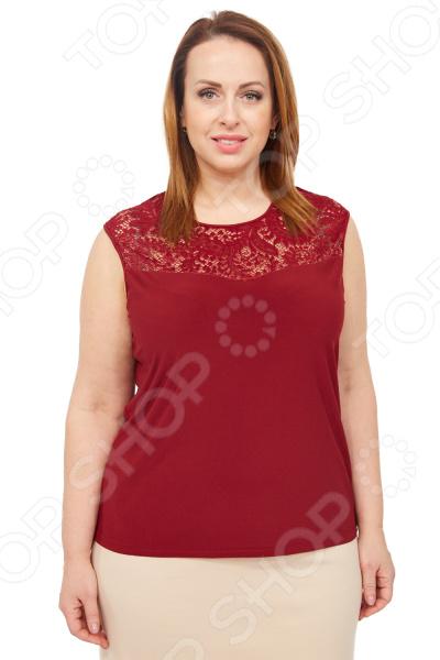 Блуза Элеганс «Маркиза». Цвет: бордовый