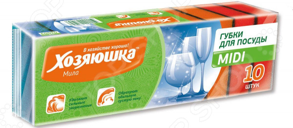 Набор губок для мытья посуды Хозяюшка «Мила» 01003 набор губок для посуды бабочка mini