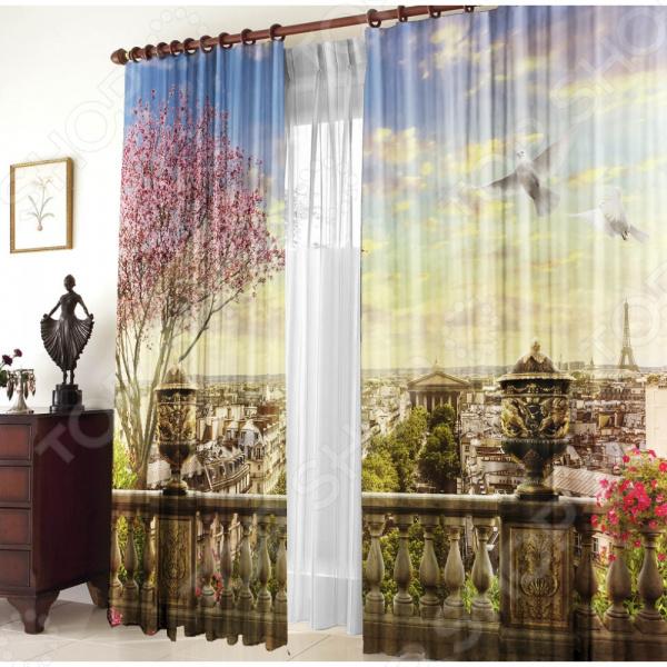 Фото-шторы блэкаут Zlata Korunka «Панорама Парижа»
