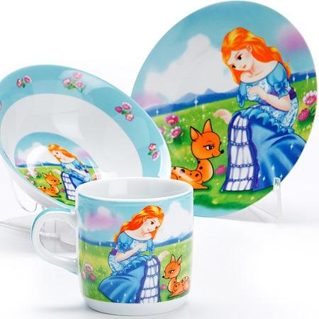 Купить Набор посуды для детей Loraine «Принцесса» LR-27343