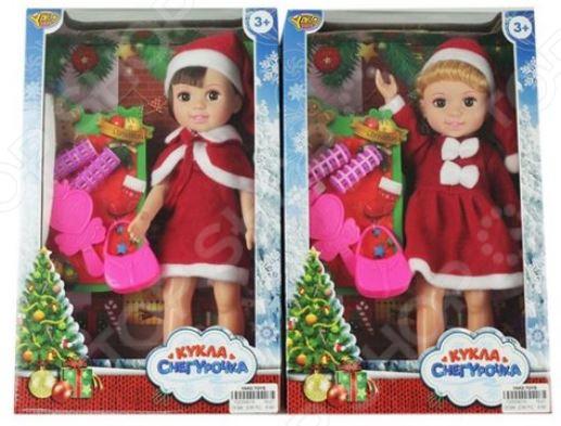 Кукла с аксессуарами Наша Игрушка «Джемми - снегурочка в красном костюме»