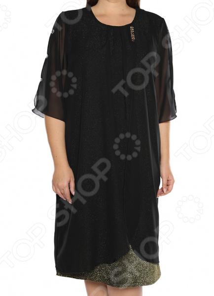 Платье Pretty Woman «Волшебный блеск». Цвет: золотистый блуза pretty woman волшебный взгляд цвет фиолетовый
