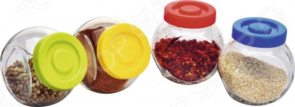 Набор банок для сыпучих продуктов gift planet набор банок для сыпучих продуктов прованс из 4 х шт 13231