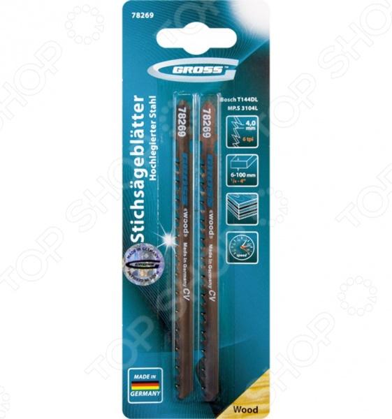 Пилки для электролобзика GROSS 78269 пилки для лобзика по металлу для прямых пропилов bosch t118a 1 3 мм 5 шт