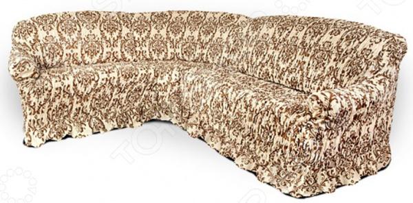 Zakazat.ru: Натяжной чехол на угловой диван Еврочехол «Фантазия. Венеция»