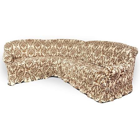 Купить Натяжной чехол на угловой диван Еврочехол «Фантазия. Венеция»
