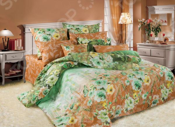 Комплект постельного белья La Noche Del Amor А-588. Цвет: зеленый, коричневый