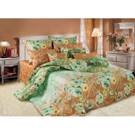 Купить Комплект постельного белья La Noche Del Amor А-588. Цвет: зеленый, коричневый. 2-спальный