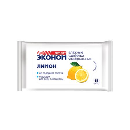 Купить Влажные салфетки Эконом smart «Лимон»