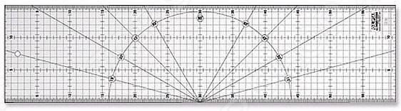 Линейка разметочная метрическая OLFA OL-MQR-15x60