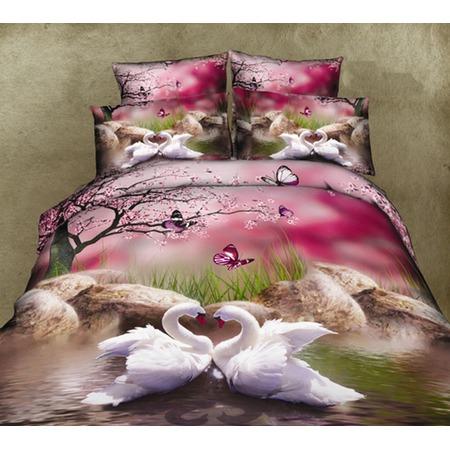 Купить Комплект постельного белья Mango «Лебеди». 2-спальный