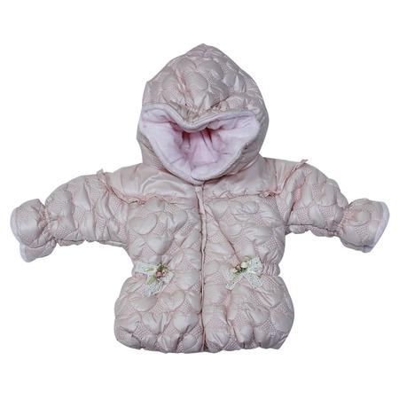 Купить Куртка утепленная с капюшоном Bebetto «Сердечки». Цвет: розовый
