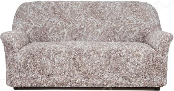 Натяжной чехол на трехместный диван Еврочехол «Виста. Буше» 1