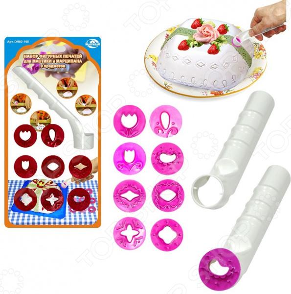 Набор фигурных печатей для мастики и марципана Мультидом DH80-198. В ассортименте