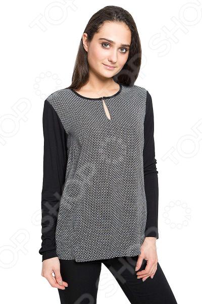 Блуза Finn Flare B17-11046 блузка женская finn flare цвет черный b17 11046 200 размер s 44