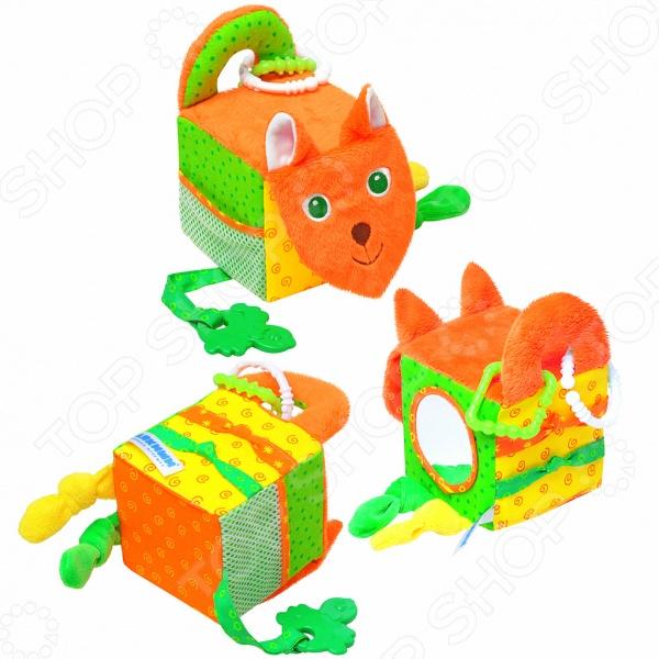 Кубики обучающие мягкие Мякиши «Лиса»