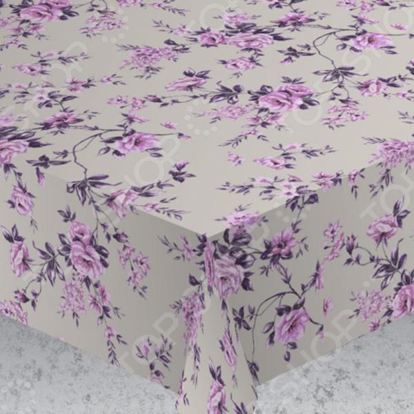 Скатерть Protec Textil «Вальс цветов». Цвет: фиолетовый