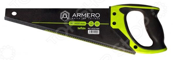 Ножовка по дереву Armero с тефлоновым покрытием ножовка armero as32 450