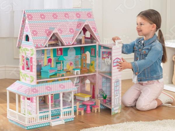 Домик кукольный KidKraft «Особняк Эбби» кукольный домик kidkraft кукольный домик для барби амелия с мебелью