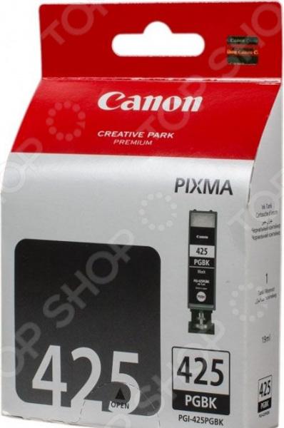 Картридж струйный Canon PGI-425PGBK картридж canon pgi 520bk для pixma ip3600 ip4600 mp540 mp620 mp630 mp980 черный двойная упаковка