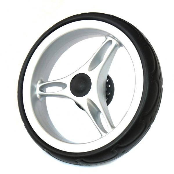 Колесо заднее для коляски Baby Jogger City Mini надежная и качественная деталь, выполненная из прочных материалов, что значительно продлевает срок ее службы. Если на вашей коляске было повреждено или вышло из строя колесо, вы всегда сможете без труда заменить его на новое. Это заднее колесо, созданное для коляски модели City Mini. Диаметр колеса 20 см.