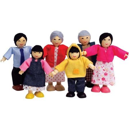 Купить Набор мини-кукол Hape «Счастливая азиатская семья»