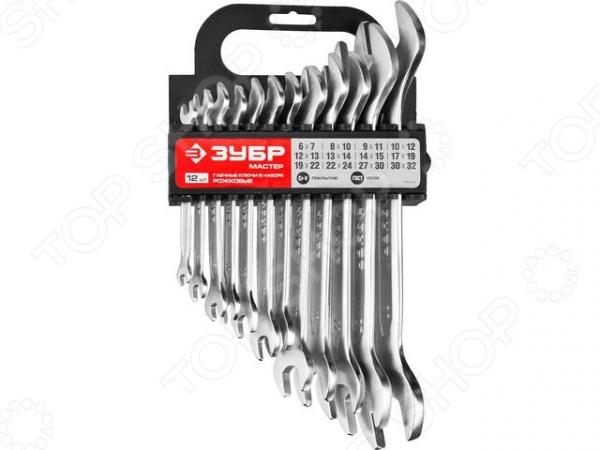 Набор ключей гаечных рожковых Зубр «Мастер» 27011-H12 набор ключей комбинированных зубр мастер 27088 h6