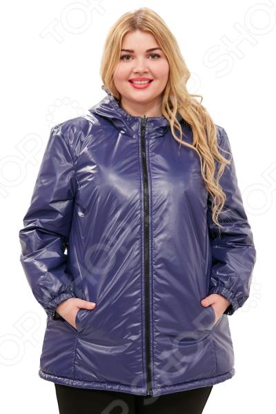 Куртка двухсторонняя СВМ-ПРИНТ «Белиссима». Цвет: темно-синий