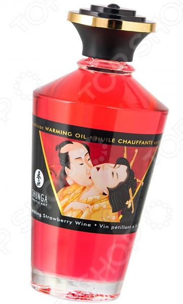 Масло массажное возбуждающее «Игристое клубничное вино»