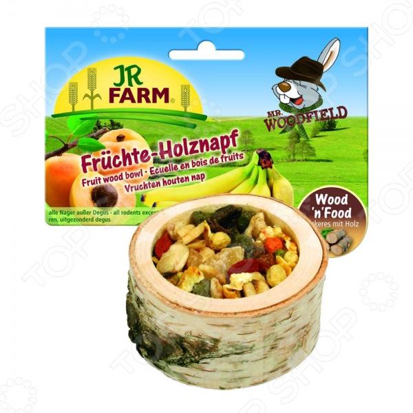 Лакомство для грызунов JR Farm Fruit Wooden Bowl игровые наборы tomy britains big farm фермерский прицеп со свинками