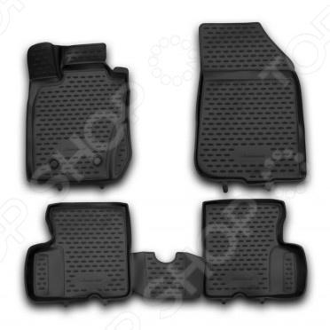 Комплект 3D ковриков в салон автомобиля Novline-Autofamily Renault Duster 4WD 2011-2015 комплект ковриков в салон автомобиля novline autofamily lexus rc 350 2015 pu