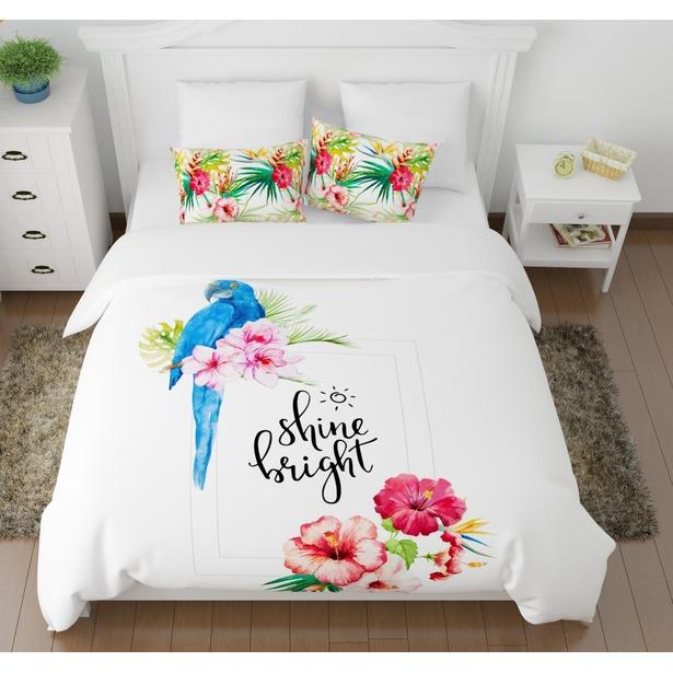Комплект постельного белья Сирень «Голубой попугай»