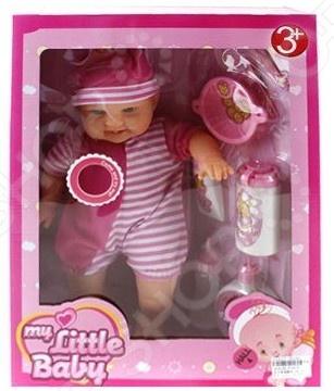 Пупс интерактивный Shantou Gepai с аксессуарами My little baby 81601B кукла shantou gepai лиза с аксессуарами 32 см в ассортименте