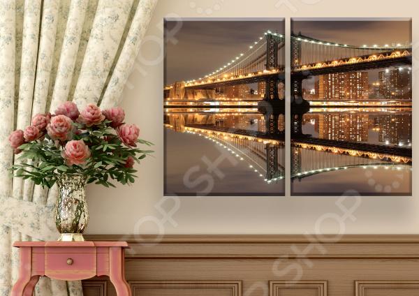 Картина 2-модульная ТамиТекс «Мост»