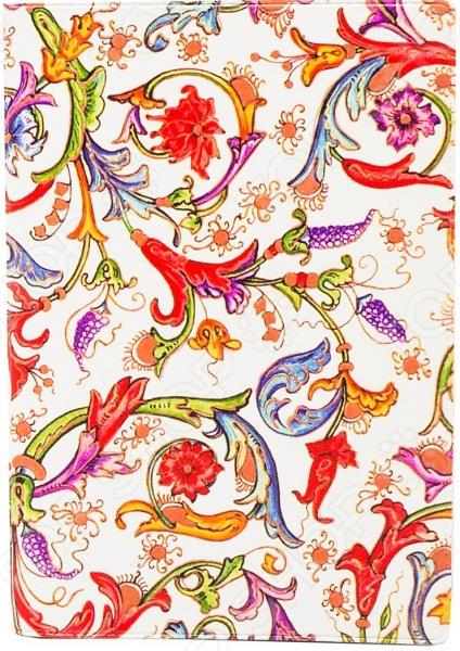 Обложка для автодокументов кожаная Mitya Veselkov «Райский сад»