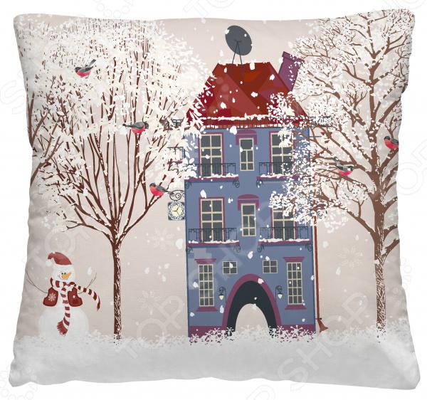 Подушка декоративная Волшебная ночь «Пригородный домик»