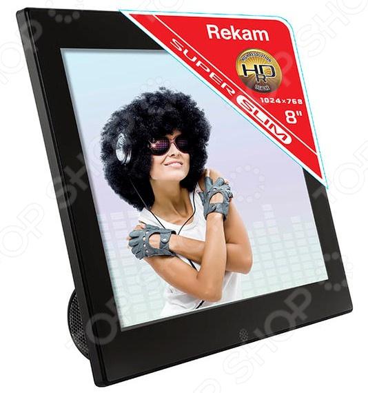 Фоторамка цифровая Rekam FM87S фоторамка rekam dejaview sl101