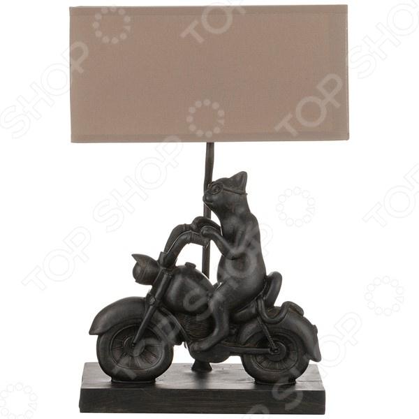 Светильник настольный с абажуром Lefard «Кот на мотоцикле» 599-159