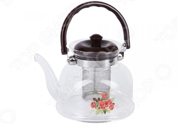 Чайник заварочный Rosenberg «Цветы» чайник заварочный rosenberg rgl 250019 1 1l