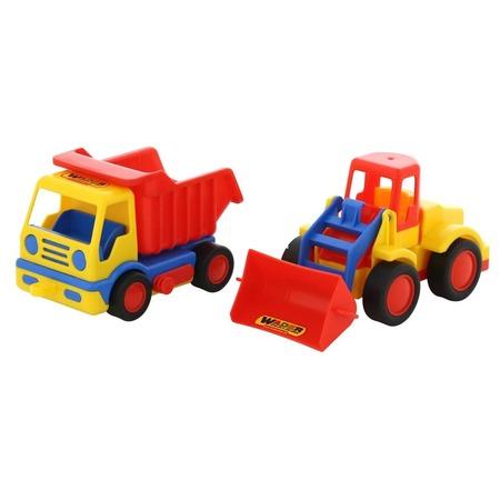 Купить Набор машинок игрушечных Wader «Базик. Самосвал + погрузчик»