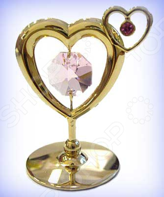 Фигурка декоративная Crystocraft «Сердечко» с кристаллами Swarovski 67009