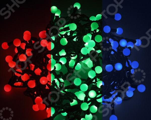 Гирлянда светодиодная Neon-Night «Мультишарики». Цвет: темно-зеленый Гирлянда светодиодная Neon-Night «Мультишарики» /трехцветный