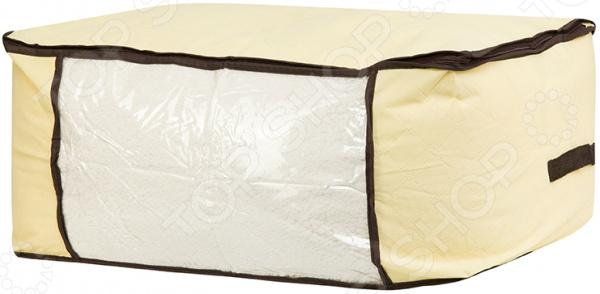 Кофр для хранения одеял и пледов EL Casa «Геометрия стиля» кофр для хранения одеял и пледов el casa звезды цвет розовый 80 х 60 х 25 см