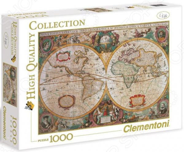 Пазл 1000 элементов Clementoni HQ «Древняя карта мира» пазл clementoni hq щенки лабрадора 1500 31976