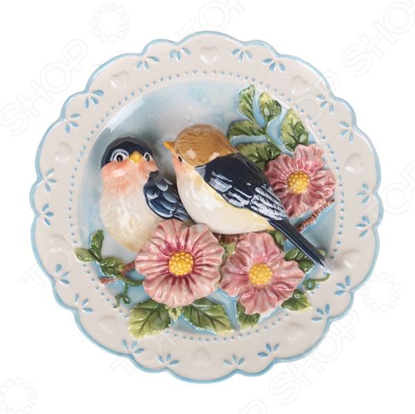 Тарелка декоративная «Птицы на ветке» 59-059