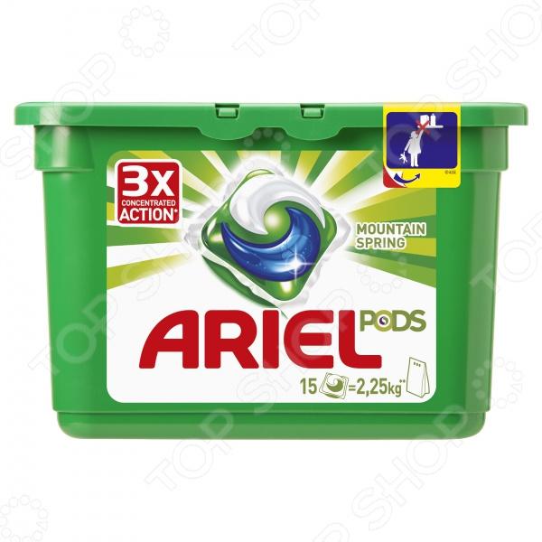 Гель-капсулы для стирки Ariel PODS «Горный родник» капсулы для качества спермы