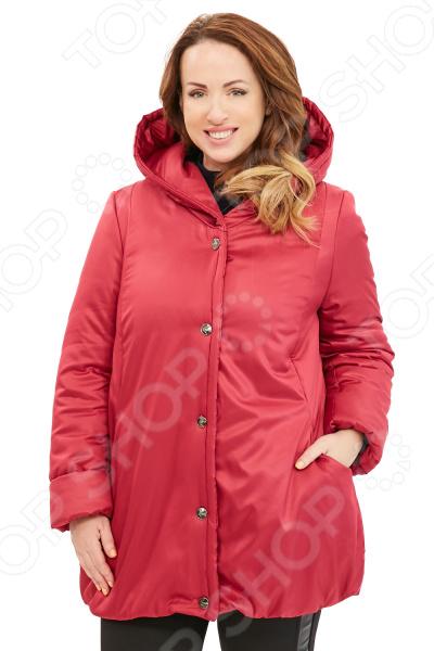 Куртка Гранд Гром «Зимняя ягода». Цвет: брусничный