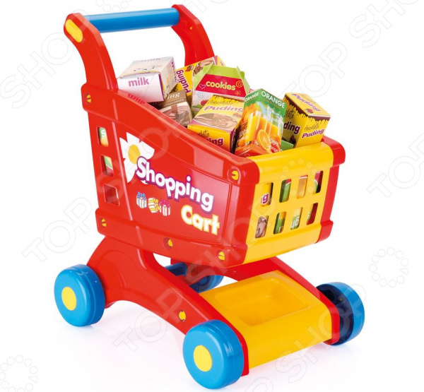 Игровой набор для ребенка Dolu «Тележка с продуктами»