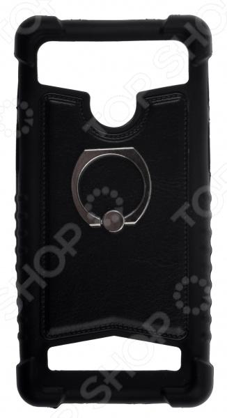 """Бампер универсальный с кольцом skinBOX для смартфона. Диагональ дисплея: 4""""/4.5"""""""